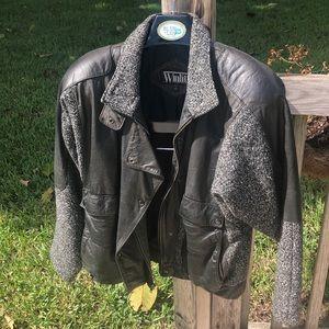Vintage Winlet leather/wool Moto jacket size 9/10